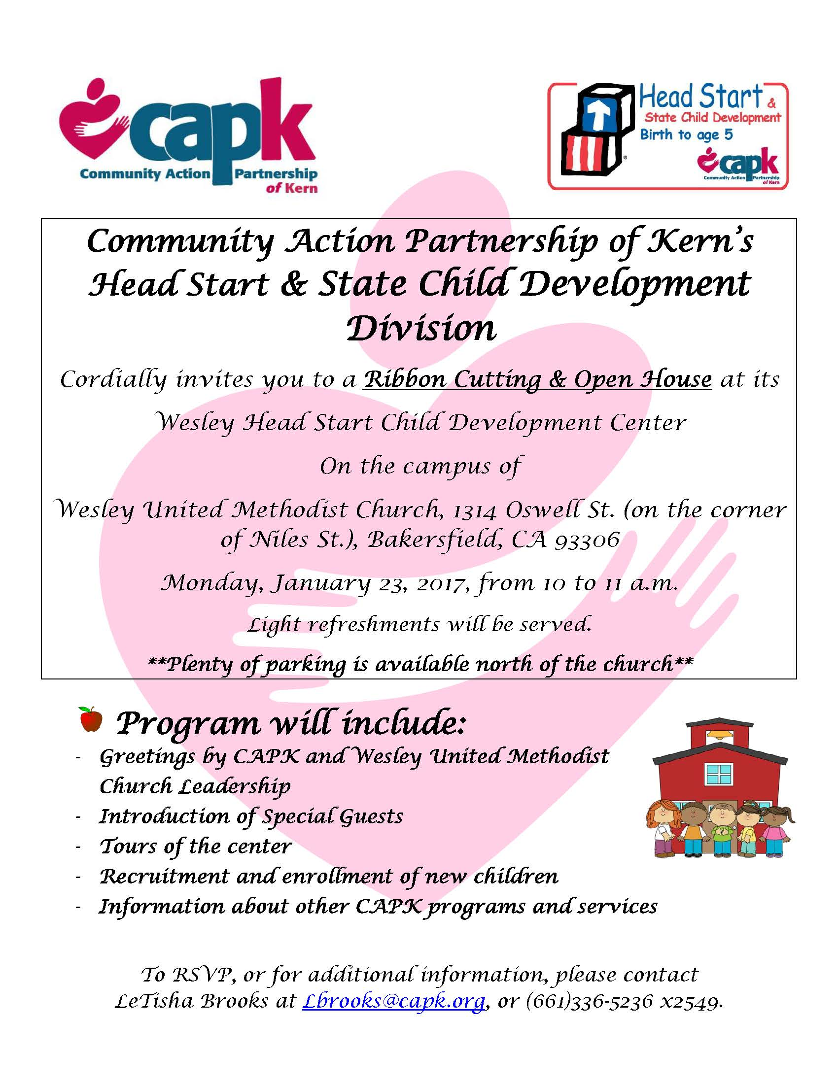 Wesley Head Start Ribbon Cutting Capk